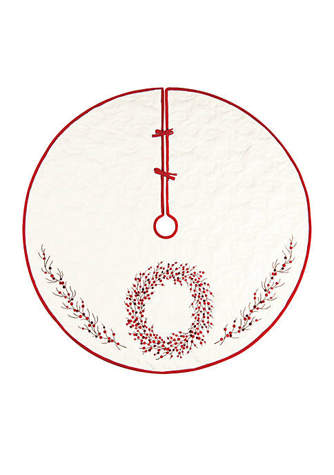 C&F Berry Wreath Tree Skirt