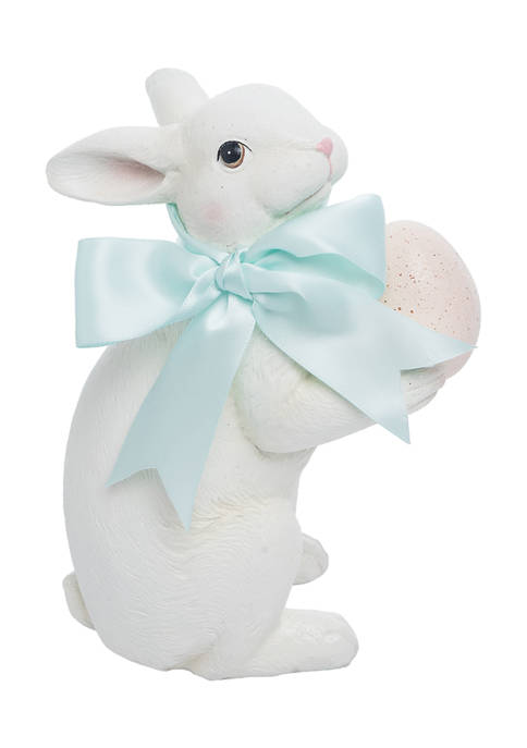 C&F Rabbit with Natural Egg Figurine
