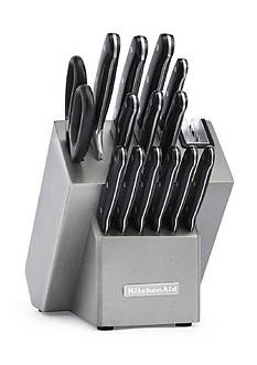 KitchenAid® Classic Forged 16-Piece Triple Rivet Cutlery Set - KKFTR16SL