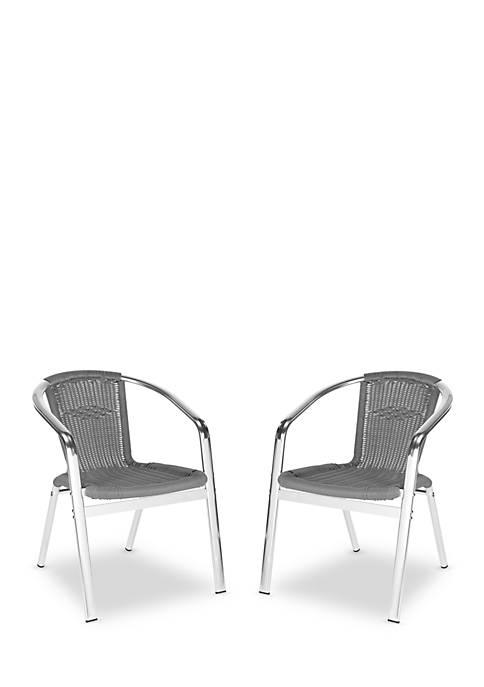 Wrangell 2-Piece Indoor-Outdoor Stacking Armchair Set
