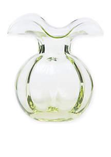 Hibiscus Aqua Glass Bud Vase