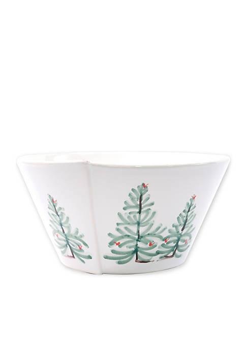 Vietri Lastra Holiday Medium Serving Bowl