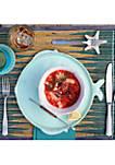 Lastra Fish Melamine Aqua Dinner Plate
