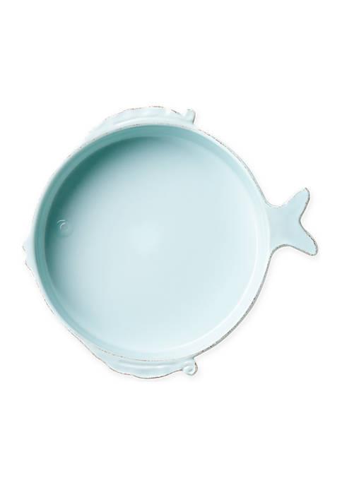 Lastra Fish Melamine Aqua Medium Serving Bowl