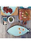 Lastra Fish Melamine Aqua Large Oval Platter