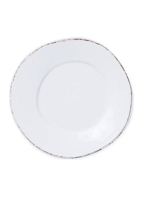 Vietri Lastra Melamine White Dinner Plate