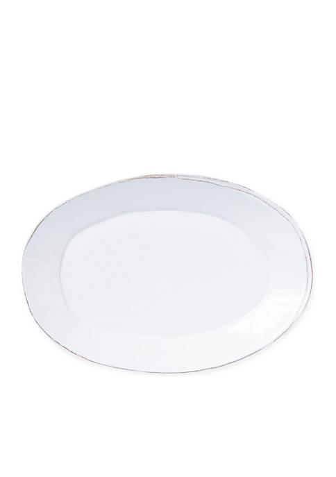 Lastra Melamine White Oval Platter
