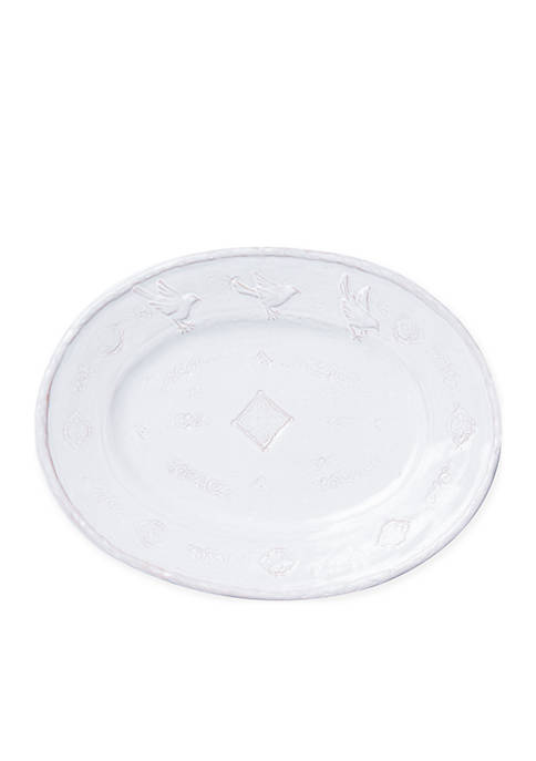 Bellezza Stone White Large Oval Platter
