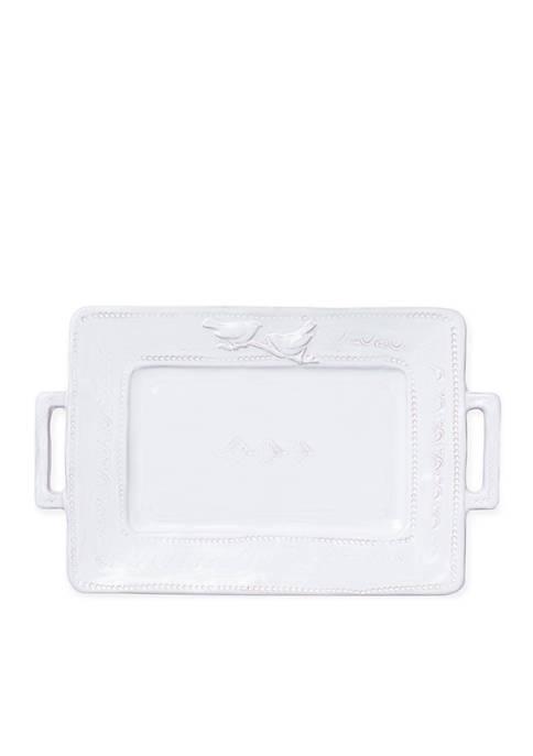 Vietri Bellezza Stone Rectangular Platter