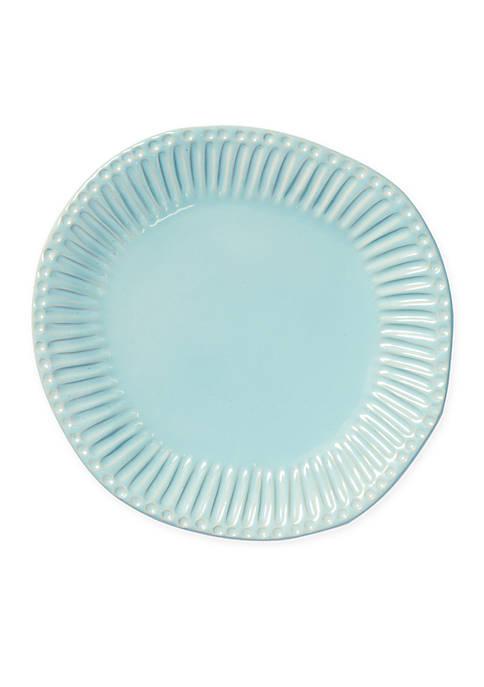 Vietri Incanto Stone Aqua Stripe Dinner Plate