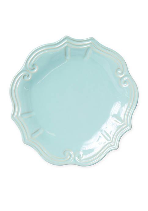 Vietri Incanto Stone Aqua Baroque Dinner Plate