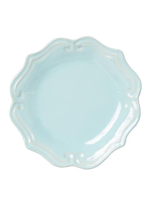 Vietri Incanto Stone Aqua Baroque Salad Plate