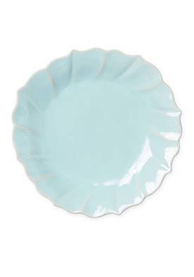 Incanto Stone Aqua Ruffle Salad Plate