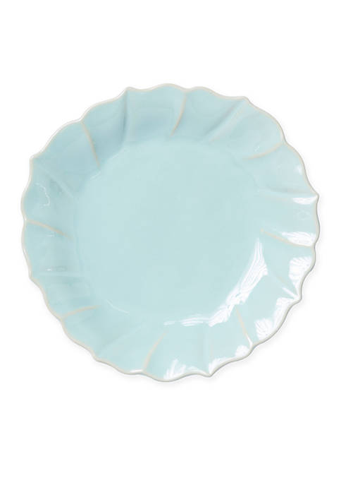 Vietri Incanto Stone Aqua Ruffle Salad Plate