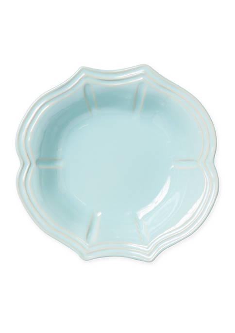 Vietri Incanto Stone Aqua Baroque Pasta Bowl