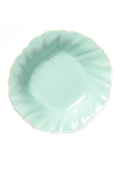 Vietri Incanto Stone Aqua Ruffle Pasta Bowl