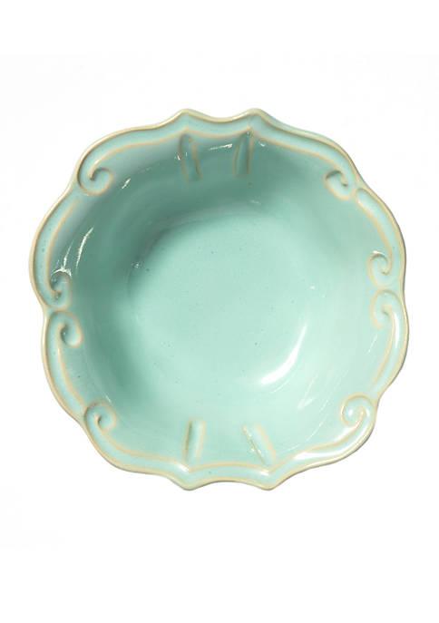 Vietri Incanto Stone Aqua Baroque Cereal Bowl