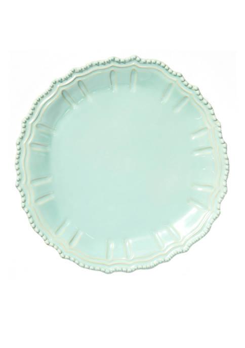 Vietri Incanto Stone Aqua Baroque Round Platter