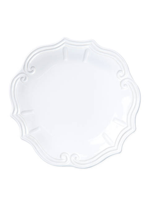 Vietri Incanto Stone White Baroque Dinner Plate