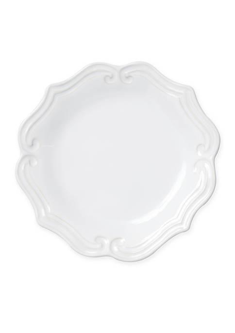 Vietri Incanto Stone White Baroque Salad Plate