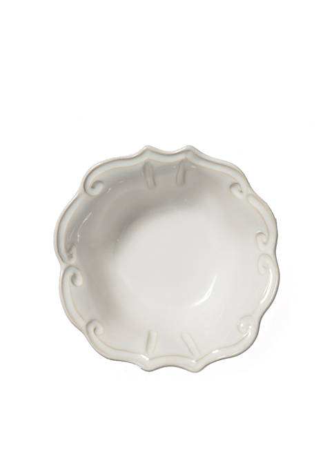 Vietri Incanto Stone White Baroque Cereal Bowl