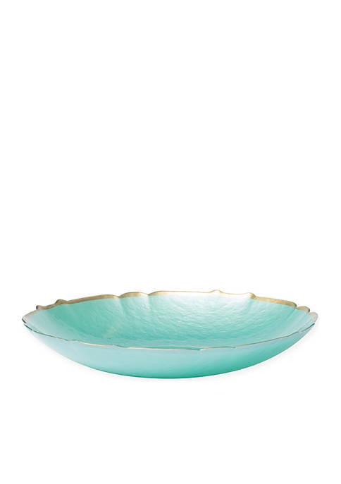 Vietri Pastel Glass Aqua Medium Bowl