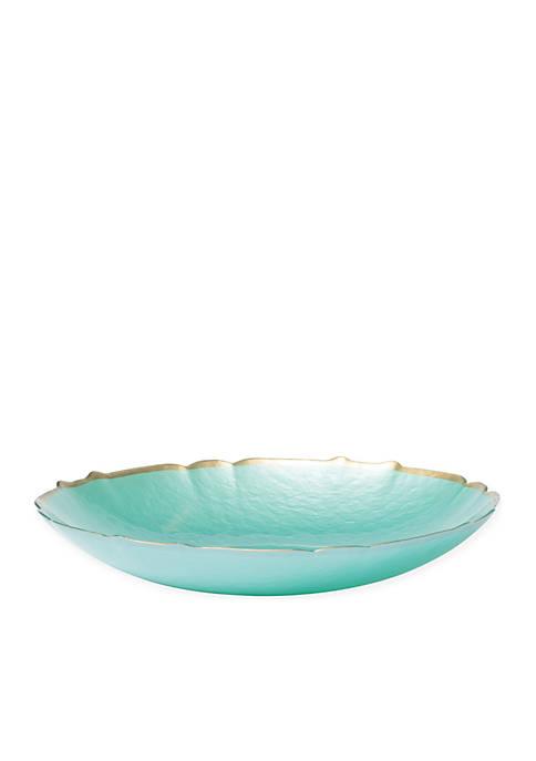 Vietri Pastel Glass Aqua Large Bowl