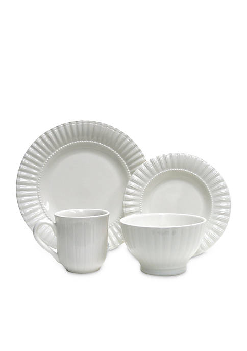 Maison White 16-Piece Dinnerware Set