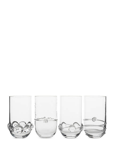 Set of 4 Heritage Collectors Large Highball Glasses