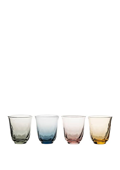 Juliska Vienne Small Tumbler Set of 4 Assorted