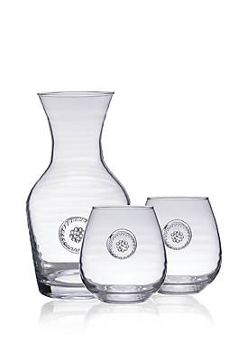 Carafe & 2 Stemless Red Wine Gift Set