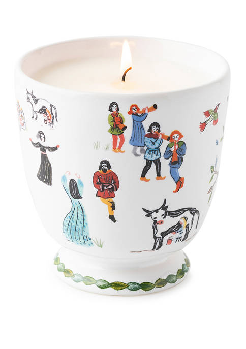 Twelve Days of Christmas Candle
