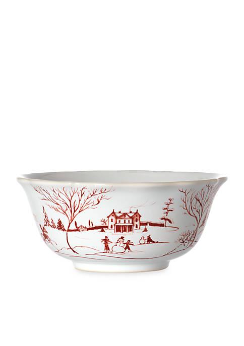 Juliska Winter Frolic Ruby Cereal Bowl