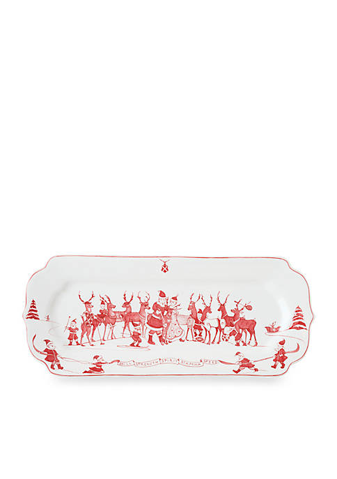 Juliska Reindeer Games Ruby Hostess Tray