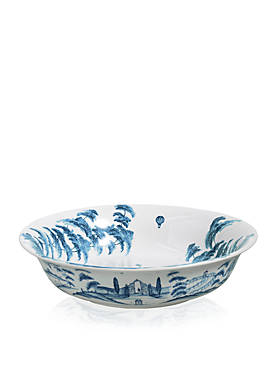 Country Estate Delft Blue 13-in. Serving Bowl Kite Fliers