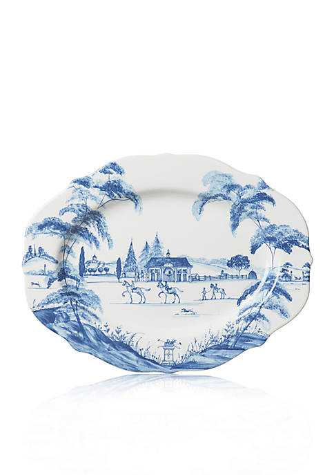 Country Estate Delft Blue 15-in. Stable Serving Platter
