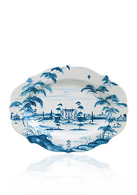 Country Estate Delft Blue 18.5-in. Main House Serving Platter