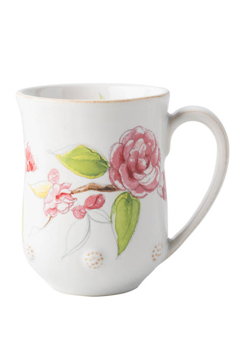 Juliska Berry & Thread Floral Sketch Camellia Mug