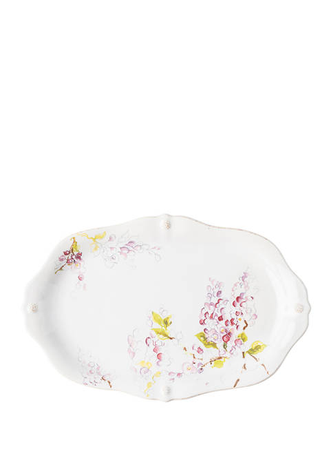 Berry & Thread Floral Sketch 16 Inch Wisteria Platter