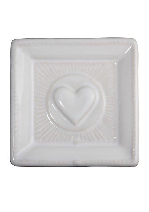 Cornerstones Whitewash Love 3.5-in. Tray