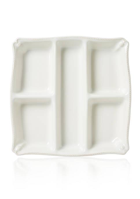 Juliska Berry & Thread Whitewash Appetizer Platter