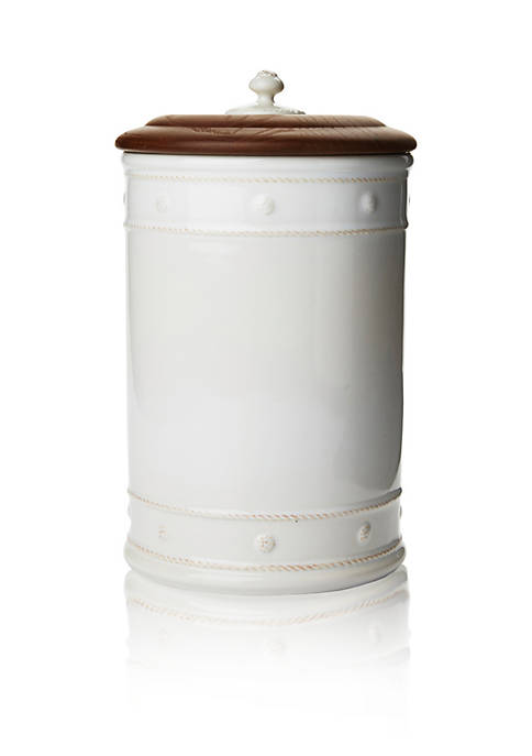 Juliska Berry & Thread Whitewash Canister with Wooden
