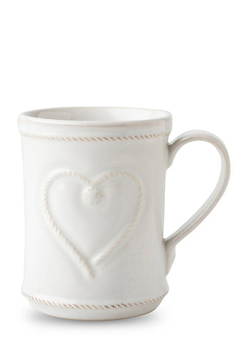 Juliska Berry Thread Whitewash Cupfull of Love Mug