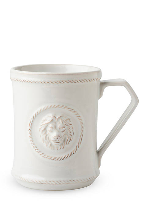 Juliska Berry Thread Whitewash Cupfull of Courage Mug