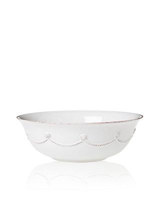 Berry and Thread Round Cereal Ice Cream Bowl by Juliska Whitewash by Juliska