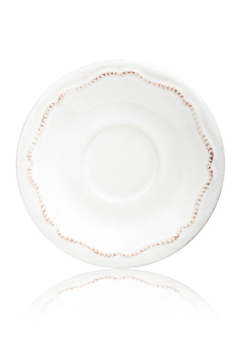 Juliska Berry & Thread Whitewash Demitasse Saucer