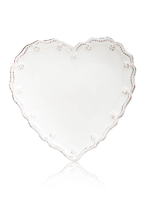 Juliska Berry & Thread Whitewash Heart Cocktail Plate
