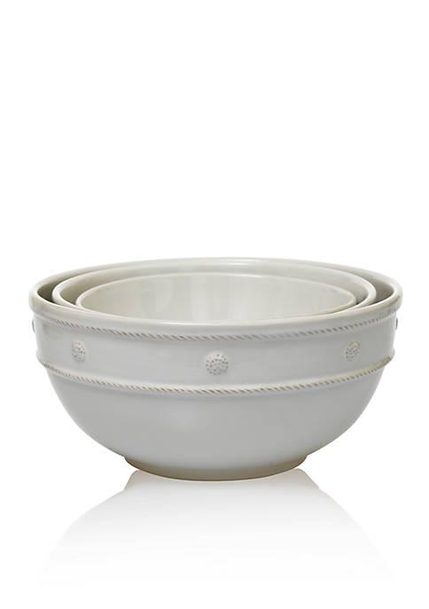 Juliska Berry & Thread Whitewash Mixing Bowls