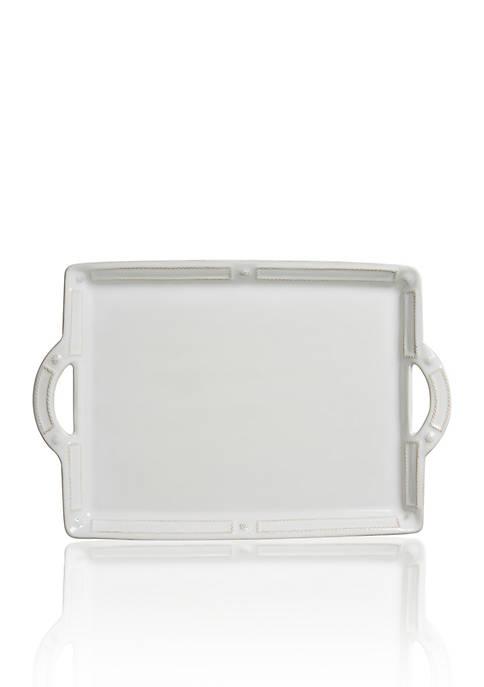 Juliska Large Handled Tray/Platter, 12-in. W x 14-in.