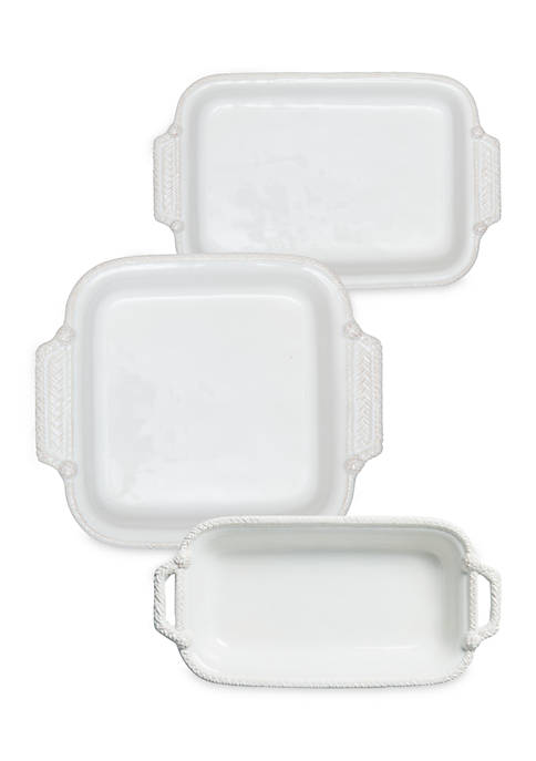 Juliska Le Panier Whitewash 3‑Piece Baking Set
